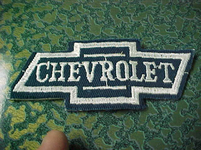 bidding on Really Nice NEW OLD STOCK Blue White CHEVROLET BOWTIE PATCH.